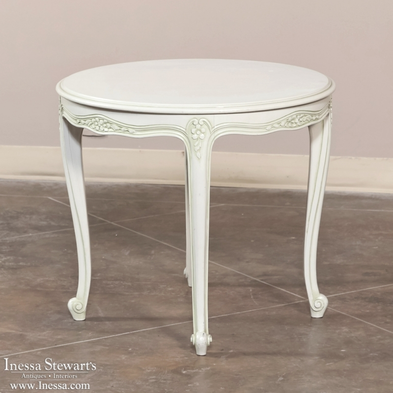 Louis Xv Painted Round End Table Inessa Stewart S Antiques