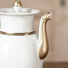 Antique Old Paris - Vieux Paris Porcelain Neoclassical Coffee Pot, Ca. 1860
