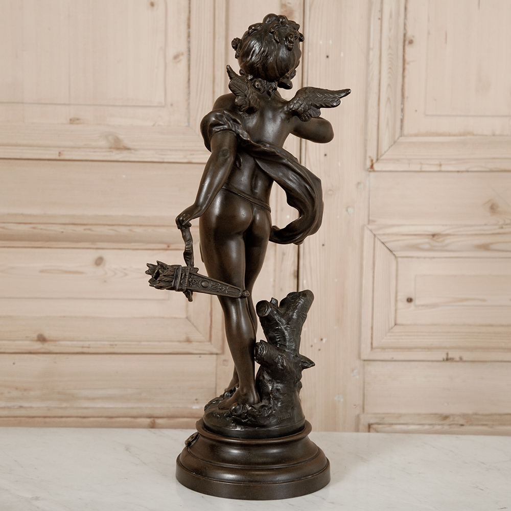 Antique French Spelter Angel Statue Inessa Stewart S