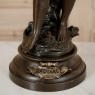 Antique Art Nouveau French Spelter Statue of Cupid