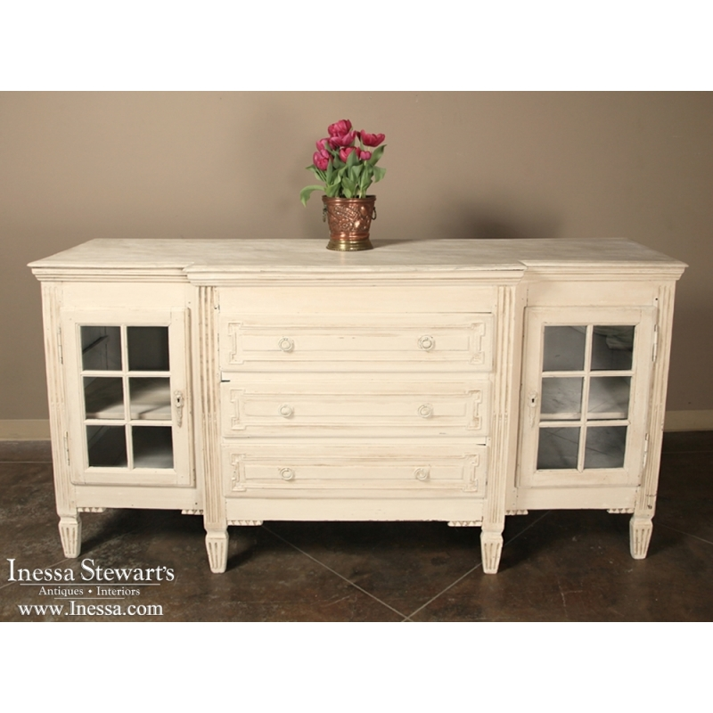 19th Century French Painted Neoclassical Buffet