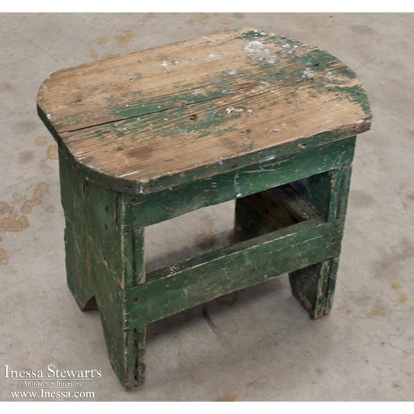 19th Century Painted Footstool