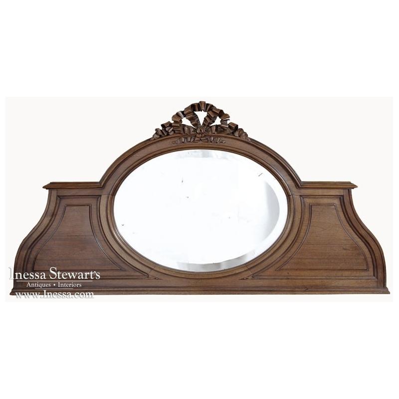 Vintage Louis XV Walnut Backsplash Mirror