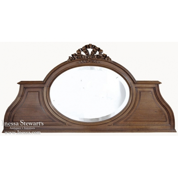 Vintage Louis XV Walnut Backsplash Mirror
