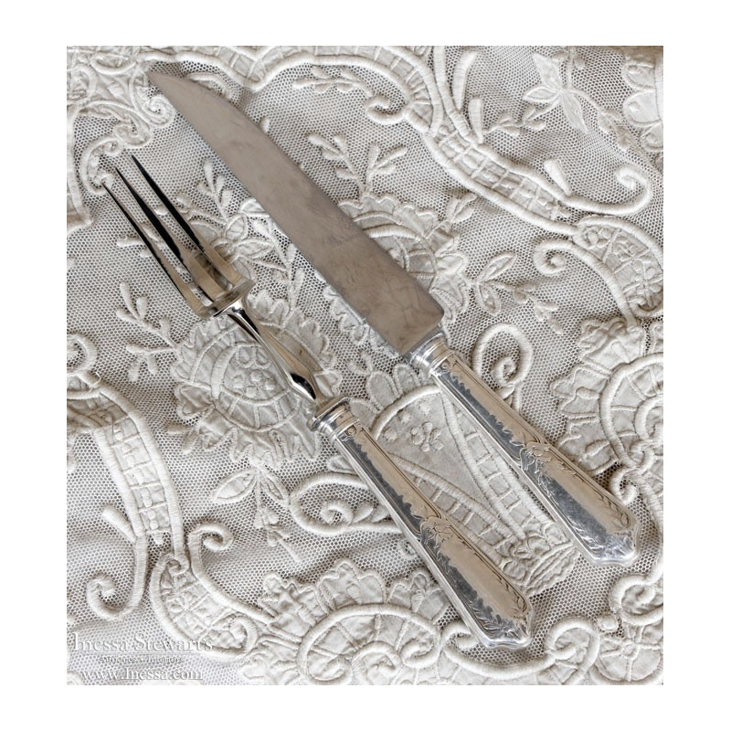 Antique Silverplate Carving Set