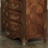 19th Century French Louis XIV Marble Top Commode with Marquetry