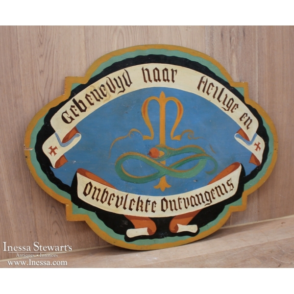 Hand Painted Religious Plaque
