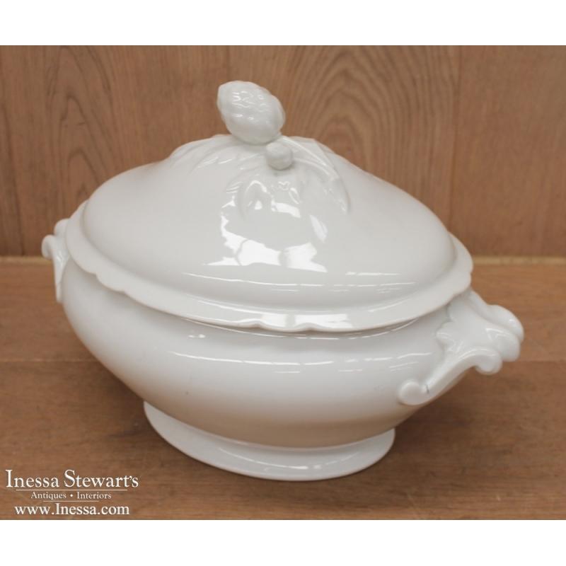 Antique White Ironstone Soup Tureen Inessa Stewart S
