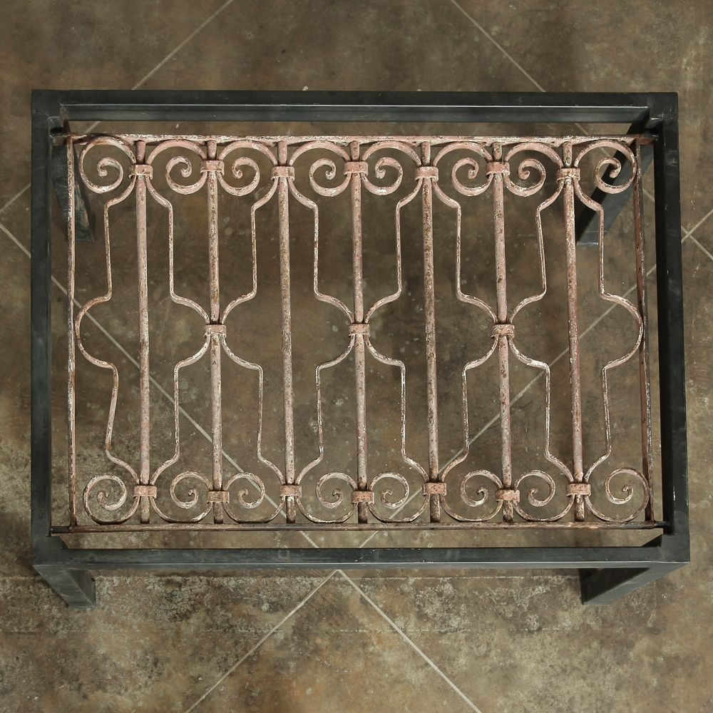Antique Wrought Iron Panel Coffee Table Inessa Stewart S