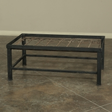Antique Wrought Iron Panel Coffee Table