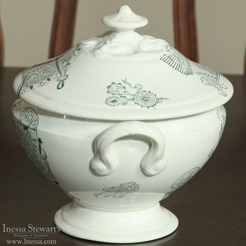 19th Century Transferware Soup Tureen Inessa Stewart S