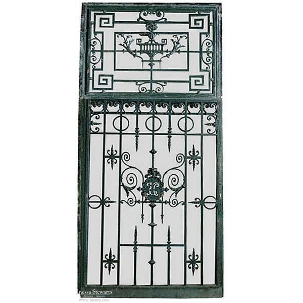 19th Century Paris Townhouse Wrought Iron Gate + Frame