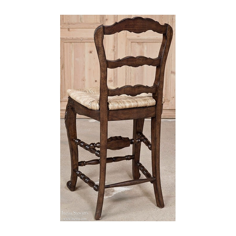 Country French Rush Seat Counter Chair Inessa Stewart S