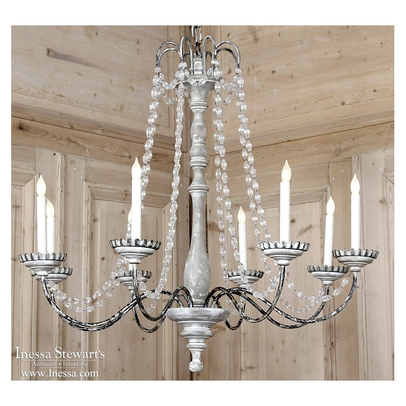 Mason Chandelier with Crystals