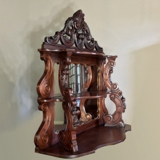 19th Century French Louis Philippe Mahogany Mirrored Shelf