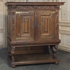 19th Century Dutch Renaissance Raised Cabinet