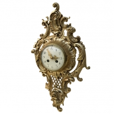 Antique French Louis Xv Bronze Wall Clock