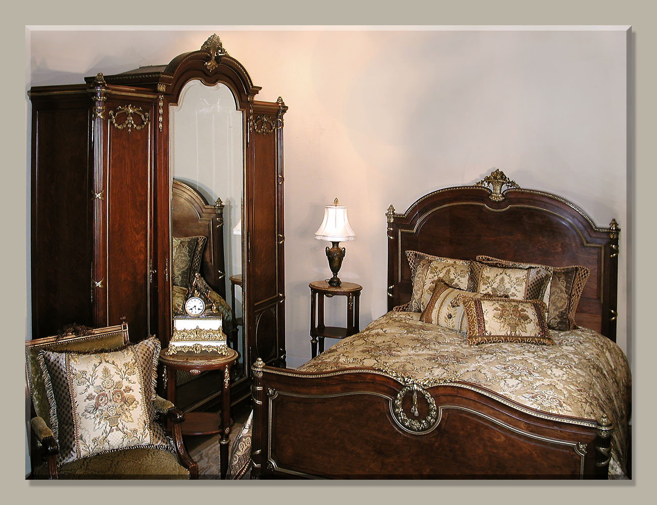 Louis xvi bedroom furniture - Louis Xvi Mahogany Antique Bedroom