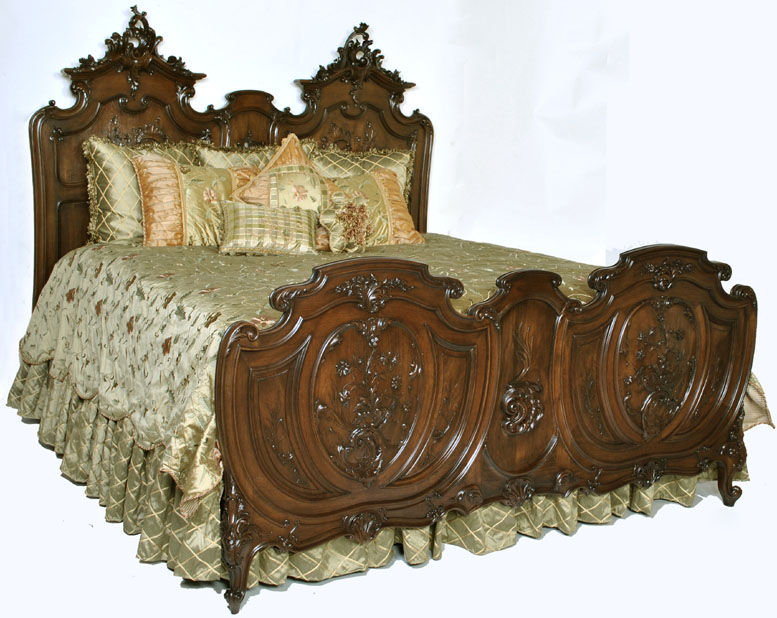 Antique King Size Louis XV Walnut Bed