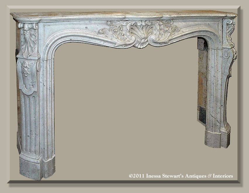 antique french regence fireplace mantel - Antique Fireplace Mantels