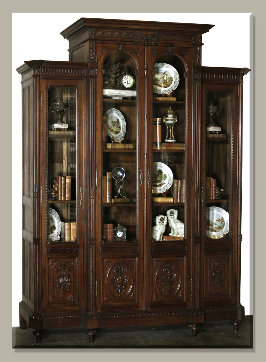 Old Book Display Case : Antique of the week bookcase or bibliotheque