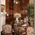 Antique French Provincial Library Vignette