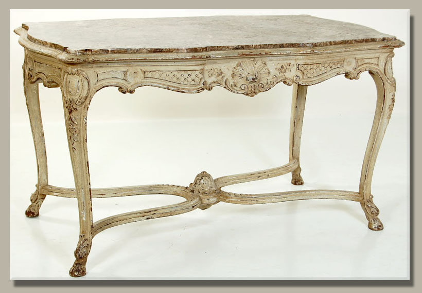 Antique French Regence Painted Marble Top Center Table - Know Your French Antique Furniture ~ Part 2 Antiques In Style