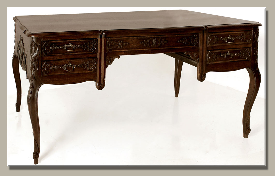 Antique French Regence Partner's Desk - Antique Of The Week ~ Desks Or Bureaux