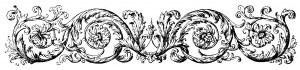 Antique Engraving Flourish