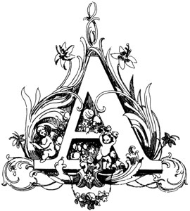 Antique Letter Engraving