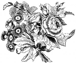 Antique Flower Engraving
