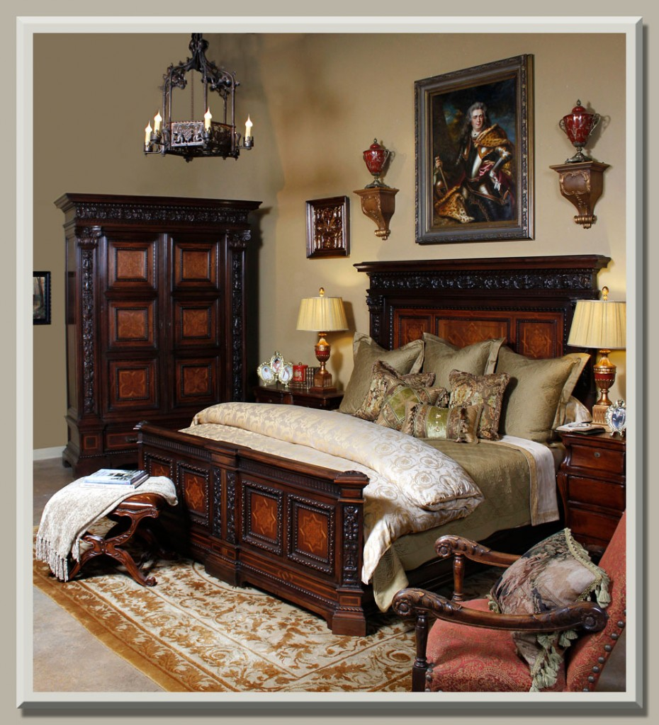 antique of the week a bed fit for a king antiques in style. Black Bedroom Furniture Sets. Home Design Ideas