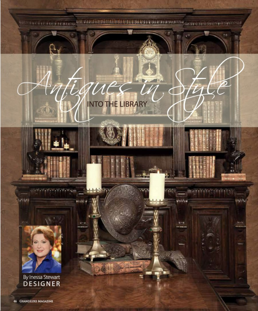 Grande Luxe Magazine Antiques In Style Page1