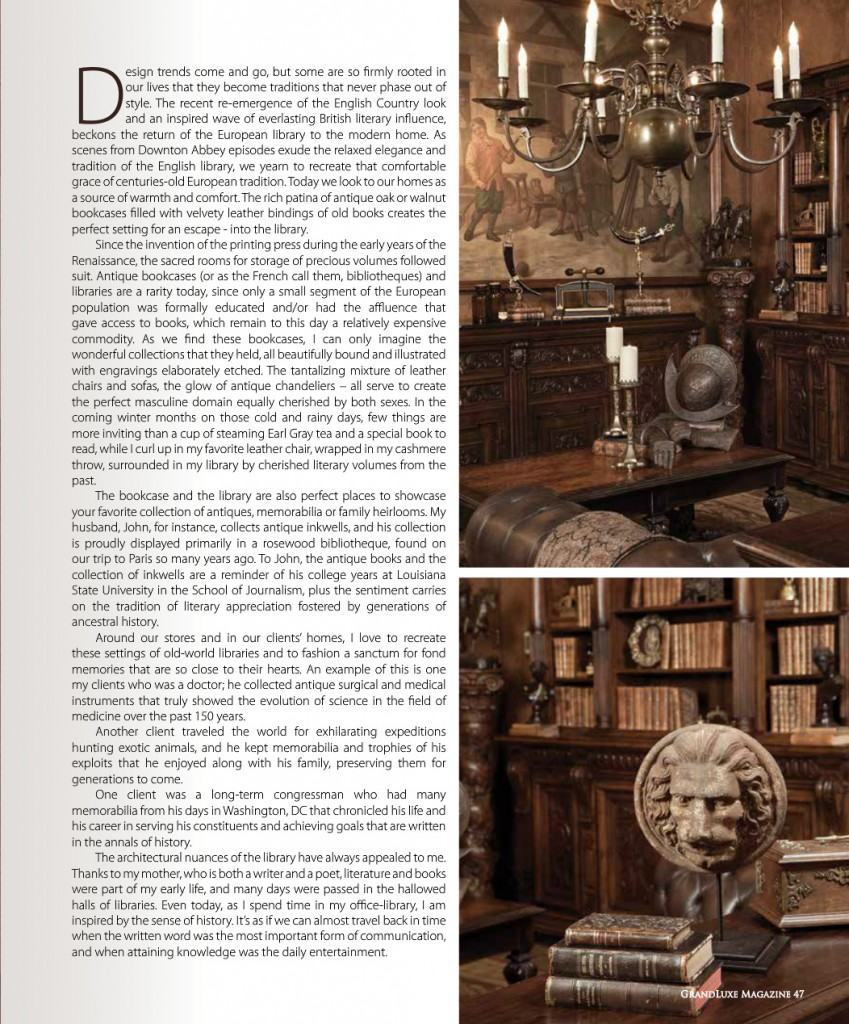 Grande Luxe Magazine Antiques In Style Page2
