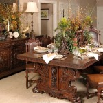 Tablescapes Antique Dining Room Set