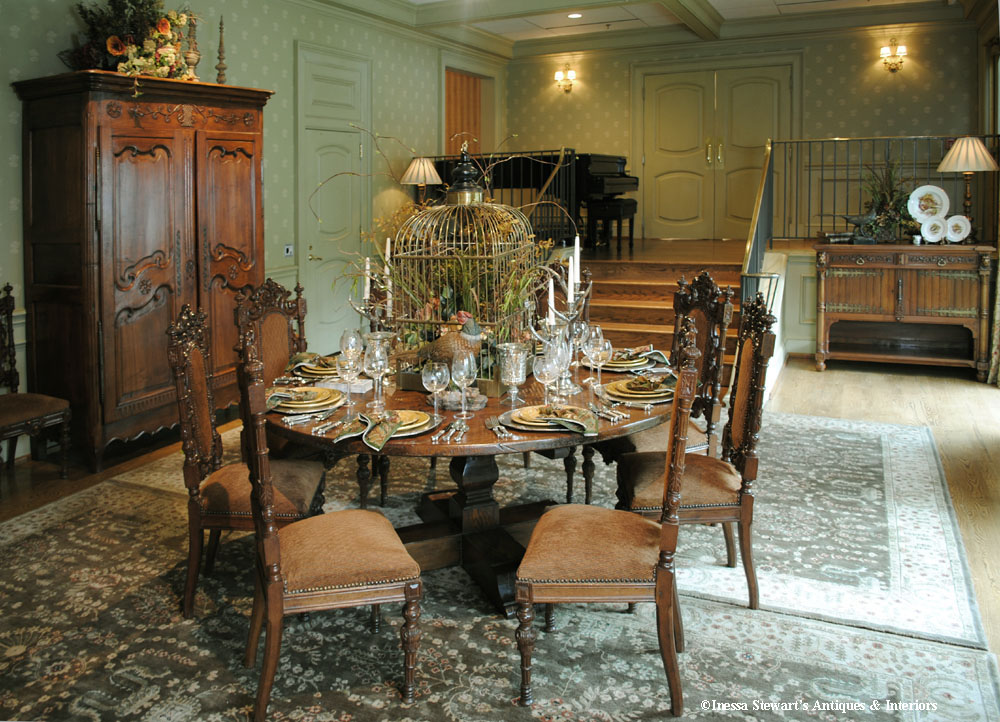 Tablescapes Antique Dining Room