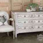French Antique Louis XVI Painted Commode