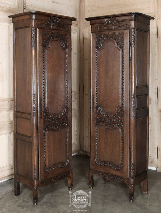 Pair of Antique Normandie Bonnetieres - Antique Of The Week Antiques In Style - Page 4 - Antique Furniture