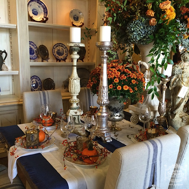 Antique furniture accessories for fall festive table setting - Fall In Love With Fall All Over Again With Antique Accessories And
