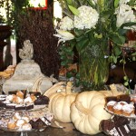 Antique accessories and furniture fall table decorating