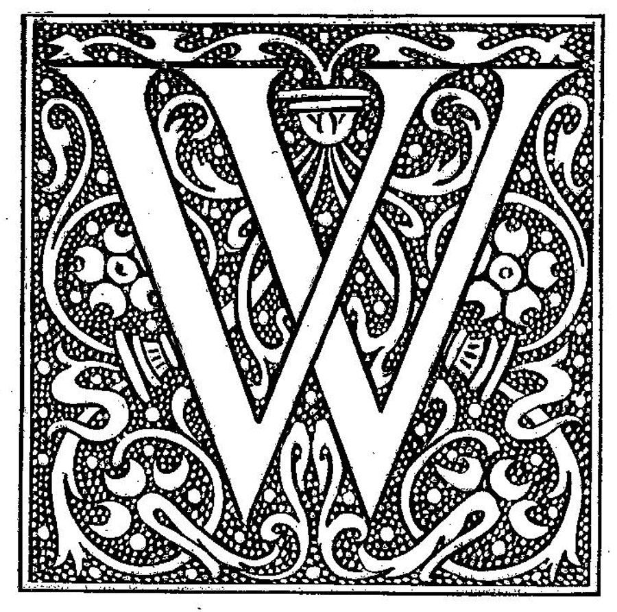 Antique Letter Engraving W