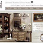 Antique store online front page preview