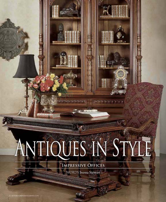 Antiques in Style ~ Impressive Offices | Antiques in Style