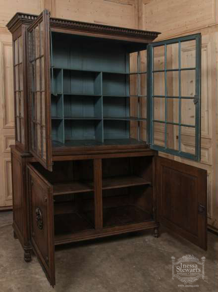 large antique bookcase  2