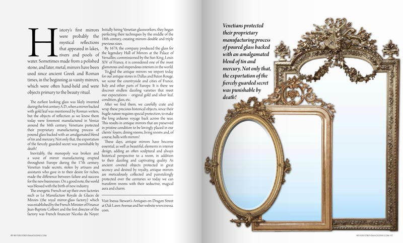 Antiques In Style Mirrors Article 2