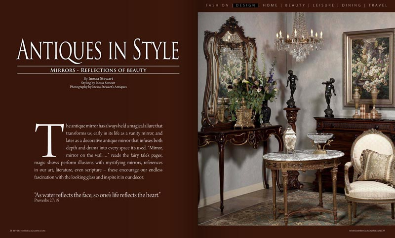 Antiques In Style Mirrors Article