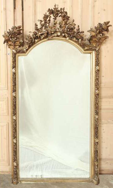 Antique French Louis XVI Gilded Mirror