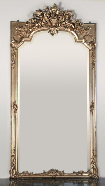Stunning Napoleon III Period French Gilded Mirror