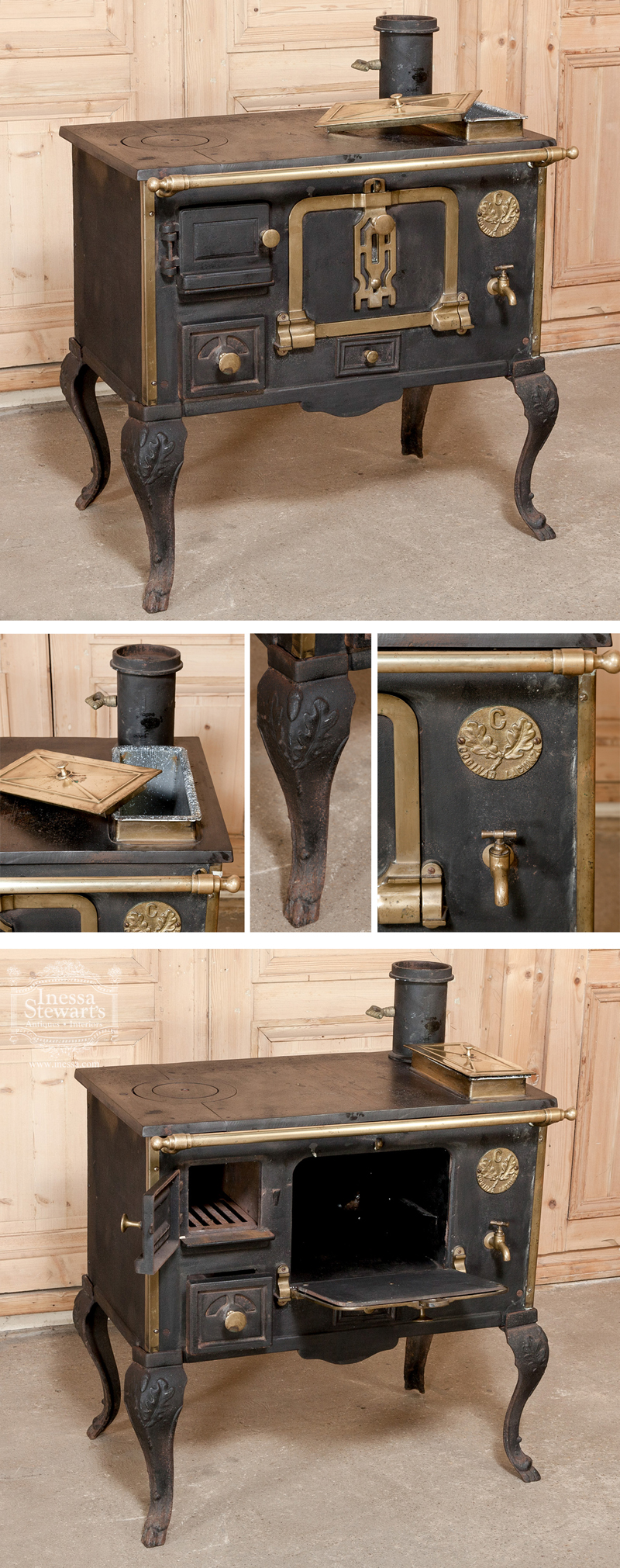 Antique Cast Iron Stove- Culinary Antiques