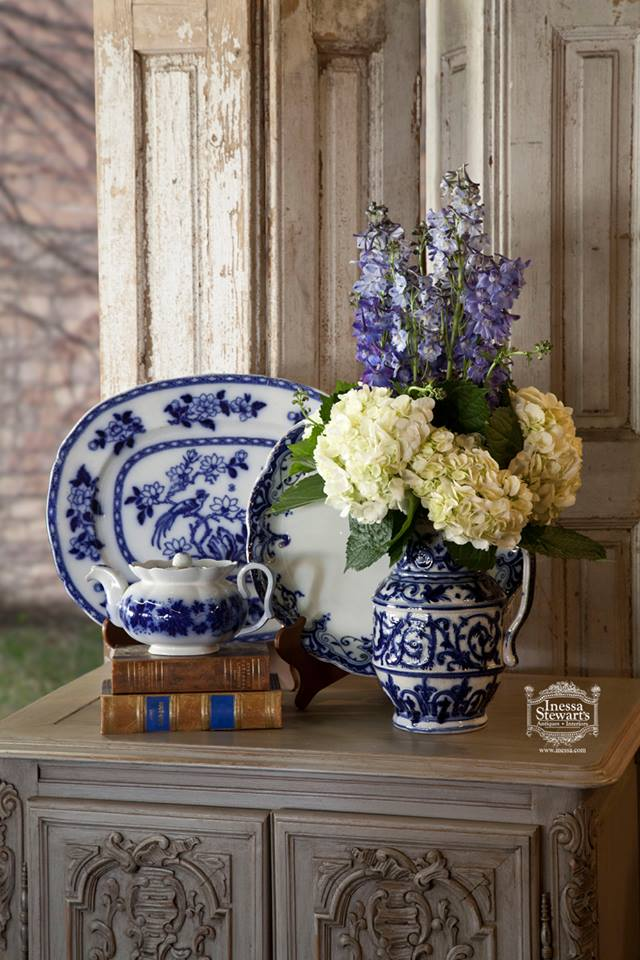 Blue and White antique accessories
